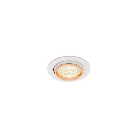 Встраиваемый светодиодный светильник Citilux Бета CLD002W2, LED 7W 3000K 550lm, белый, золото, металл