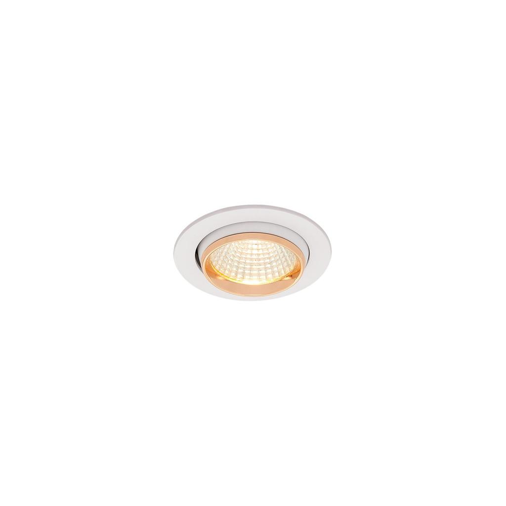 Встраиваемый светодиодный светильник Citilux Бета CLD002W2, LED 7W 3000K 550lm, белый, золото, металл - фото 1