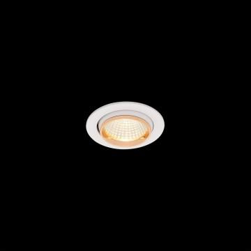 Встраиваемый светодиодный светильник Citilux Бета CLD002W2, LED 7W 3000K 550lm, белый, золото, металл - миниатюра 2