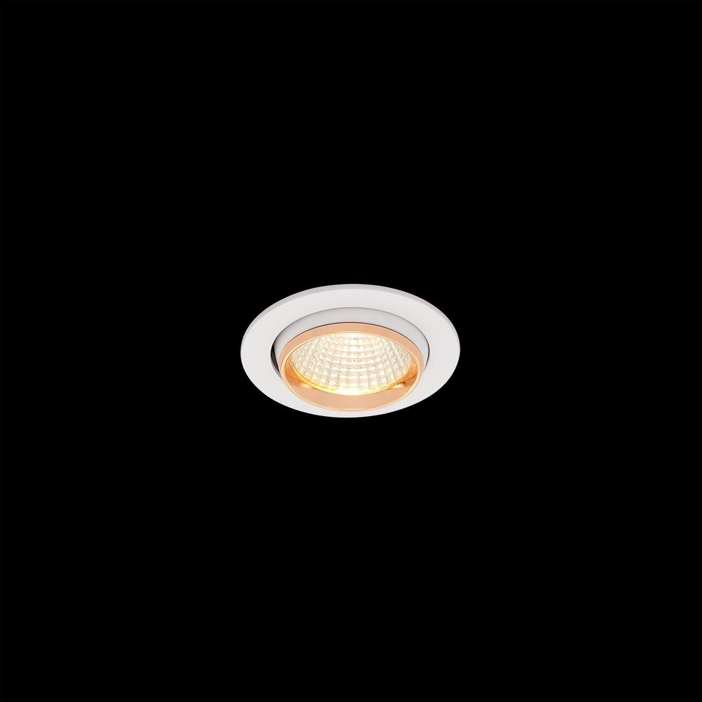 Встраиваемый светодиодный светильник Citilux Бета CLD002W2, LED 7W 3000K 550lm, белый, золото, металл - фото 2