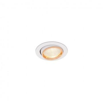 Встраиваемый светодиодный светильник Citilux Бета CLD002W2, LED 7W 3000K 550lm, белый, золото, металл - миниатюра 3