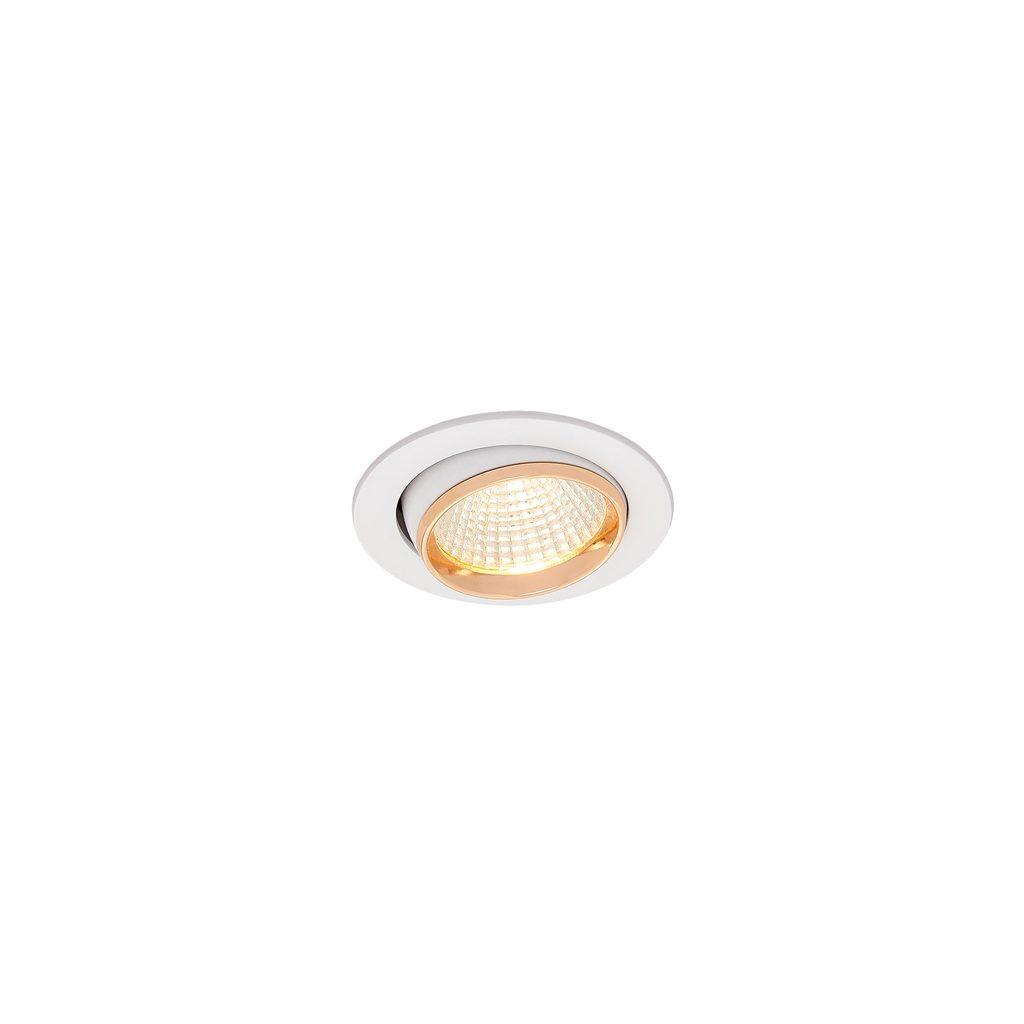 Встраиваемый светодиодный светильник Citilux Бета CLD002W2, LED 7W 3000K 550lm, белый, золото, металл - фото 3