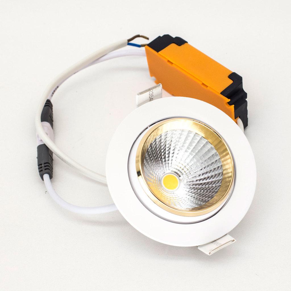 Встраиваемый светодиодный светильник Citilux Бета CLD002W2, LED 7W 3000K 550lm, белый, золото, металл - фото 4