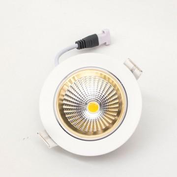 Встраиваемый светодиодный светильник Citilux Бета CLD002W2, LED 7W 3000K 550lm, белый, золото, металл - миниатюра 5