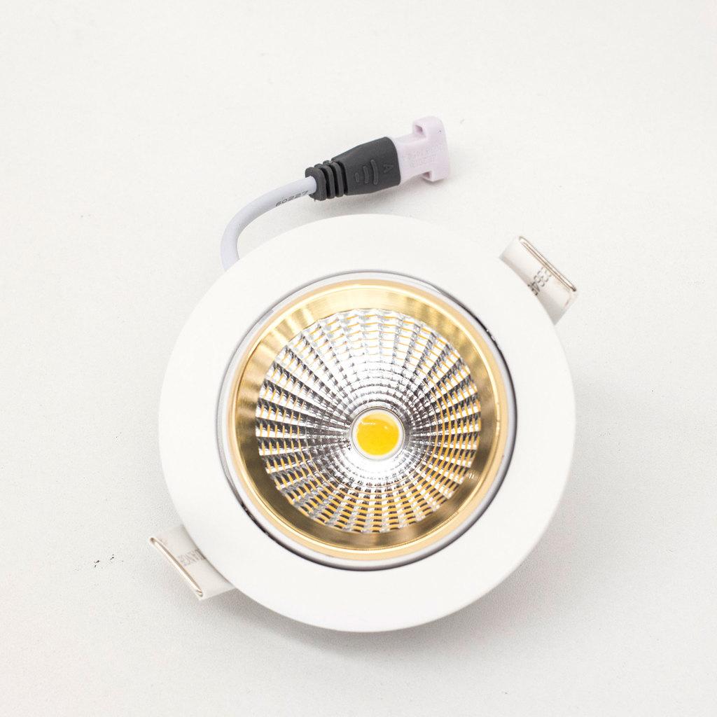 Встраиваемый светодиодный светильник Citilux Бета CLD002W2, LED 7W 3000K 550lm, белый, золото, металл - фото 5