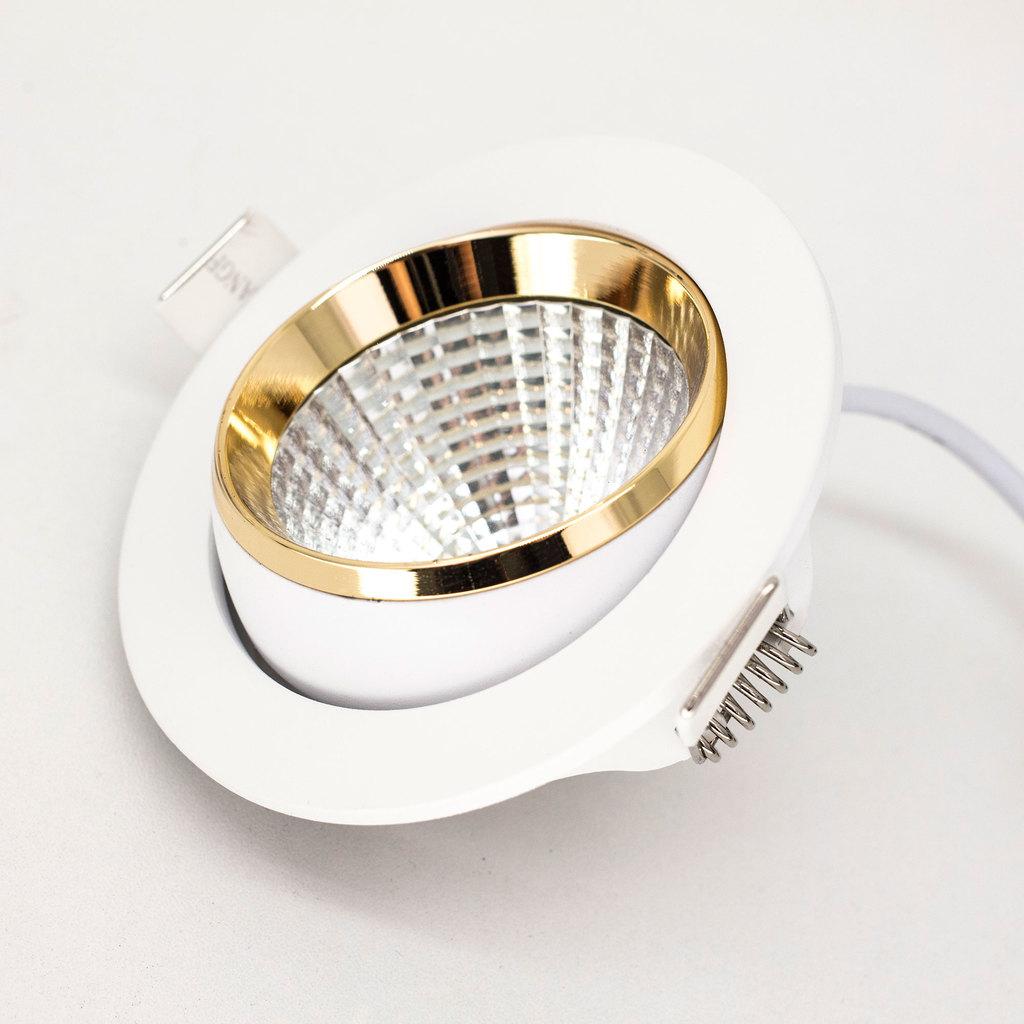 Встраиваемый светодиодный светильник Citilux Бета CLD002W2, LED 7W 3000K 550lm, белый, золото, металл - фото 6