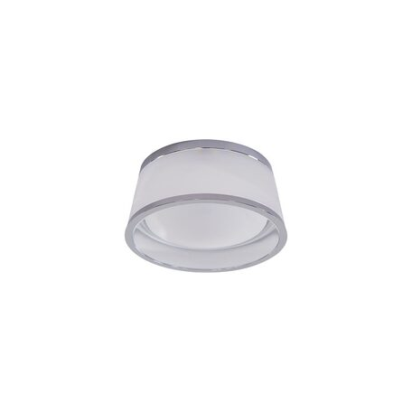 Встраиваемый светодиодный светильник Citilux Сигма CLD003M1, LED 7W 3000K 550lm, хром, белый, металл, стекло