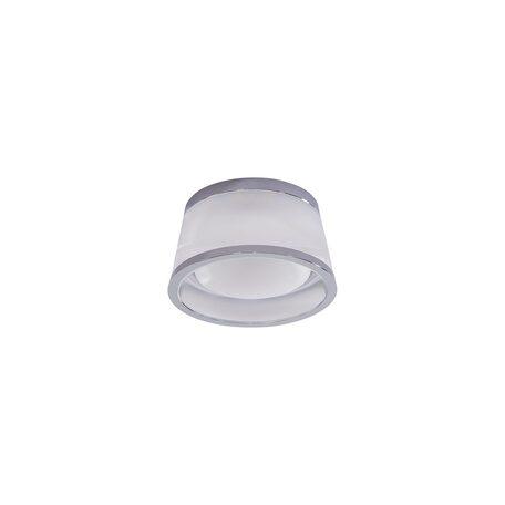 Встраиваемый светодиодный светильник Citilux Сигма CLD003S1, LED 5W 3000K 325lm, хром, белый, металл, стекло
