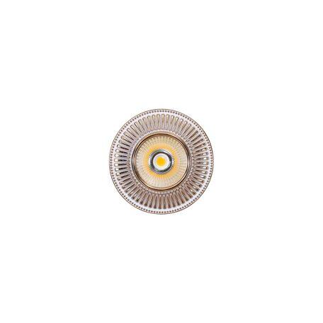 Встраиваемый светодиодный светильник Citilux Дзета CLD042W2, LED 7W 3000K 550lm, золото, металл - миниатюра 1