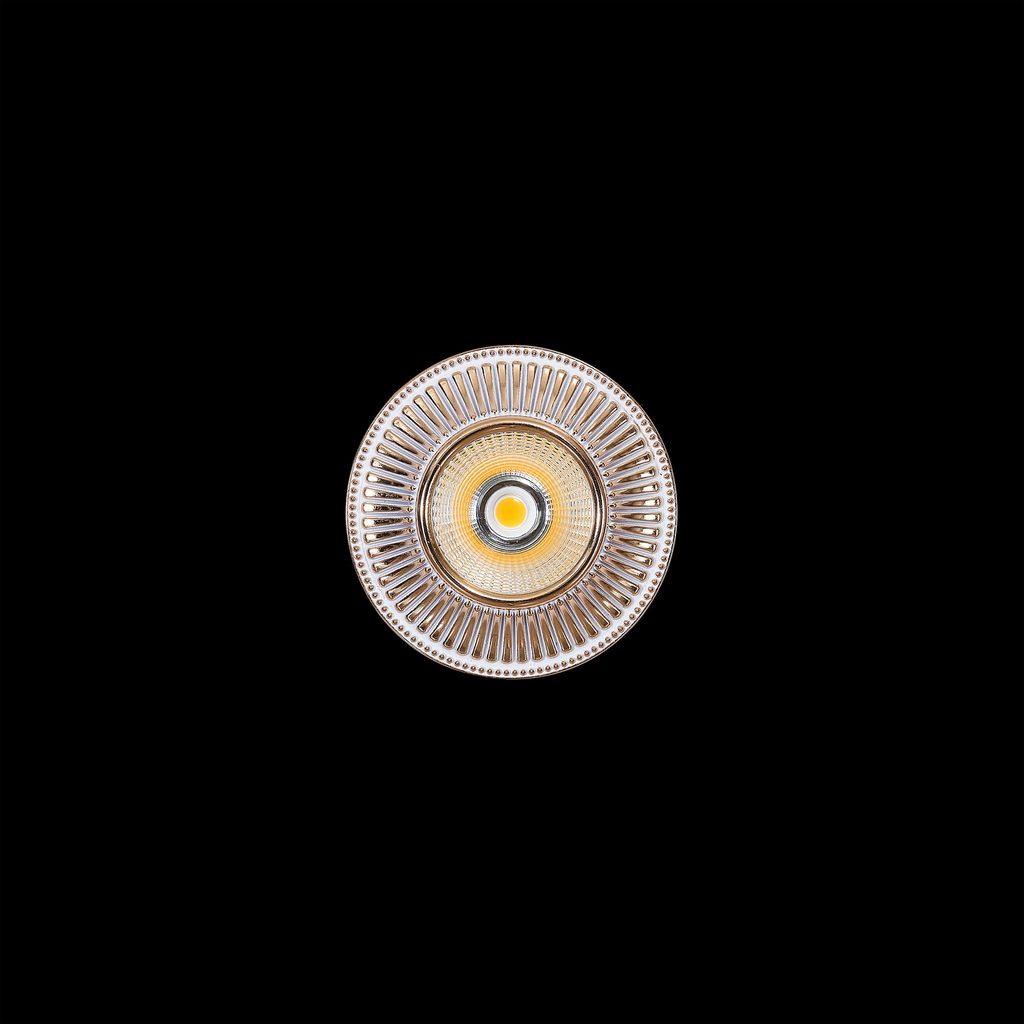 Встраиваемый светодиодный светильник Citilux Дзета CLD042W2, LED 7W 3000K 550lm, золото, металл - фото 2