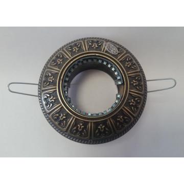 Встраиваемый светильник Artglass SPOT 50 DARK PATINA, 1xGU10x35W, бронза, металл
