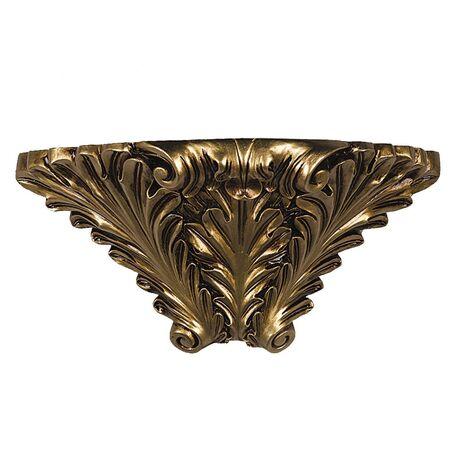 Бра Favourite Cornisa 1325-1W, 1xE14x40W, черненое золото, гипс - миниатюра 1