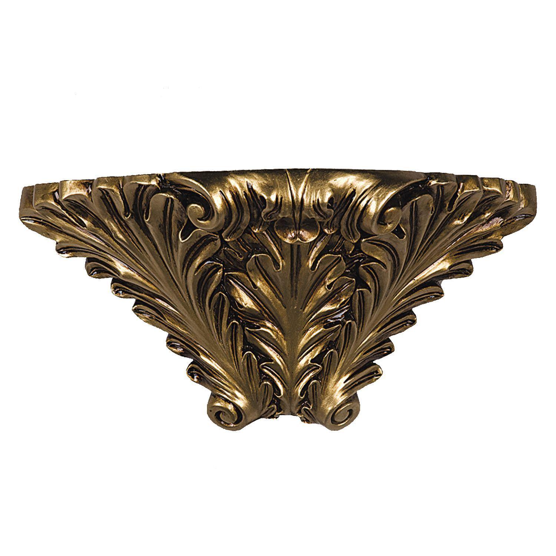 Бра Favourite Cornisa 1325-1W, 1xE14x40W, черненое золото, гипс - фото 1