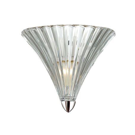 Бра Favourite Iris 1696-1W, 1xE14x40W, хром, прозрачный, металл, стекло