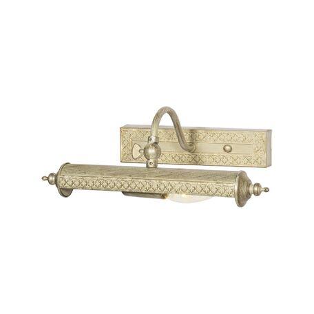 Настенный светильник для подсветки картин Favourite Picturion 6 1288-1W, 1xE14x40W, белый с золотой патиной, металл