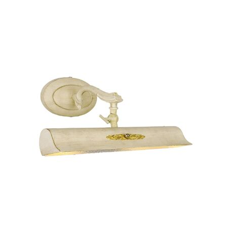 Настенный светильник для подсветки картин Favourite Picturion 1264-2W, 2xE14x25W, белый с золотой патиной, металл