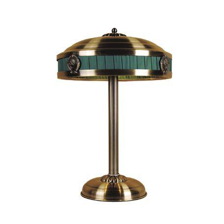Настольная лампа Favourite Kremlin 1274-3T, 3xE14x40W, бронза, зеленый, металл