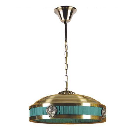 Подвесной светильник Favourite Kremlin 1274-3P1, 3xE14x40W, бронза, зеленый, металл