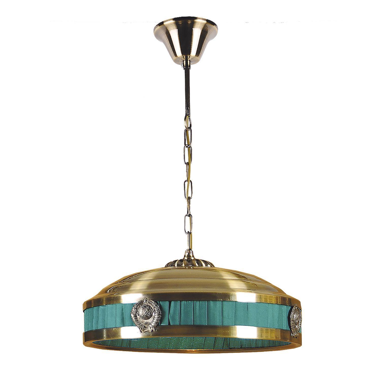 Подвесной светильник Favourite Kremlin 1274-3P1, 3xE14x40W, бронза, зеленый, металл - фото 1