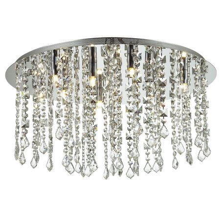 Потолочная люстра Favourite Rain 1684-12C, 12xG9x40W, хром, прозрачный, металл, хрусталь