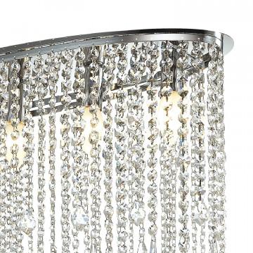 Потолочная люстра Favourite Rain 1692-5C, 5xE14x40W, хром, прозрачный, металл, хрусталь - миниатюра 3