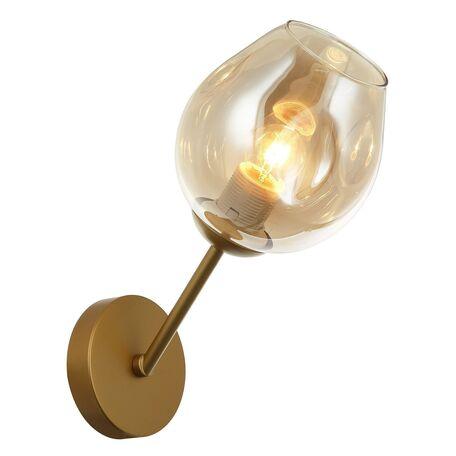 Бра Favourite Traube 2360-1W, 1xE27x40W, матовое золото, янтарь, металл, стекло