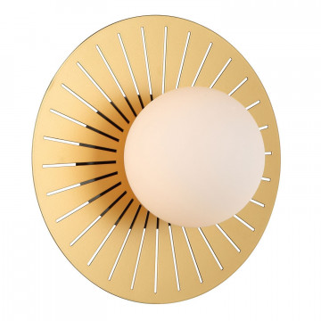 Настенный светильник Favourite Sonnenblume 2356-1W, 1xG9x25W, черный, белый, металл, стекло