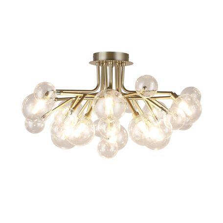Потолочная люстра Favourite Lash 2524-10U, 10xG9x40W, матовое золото, прозрачный, металл, стекло