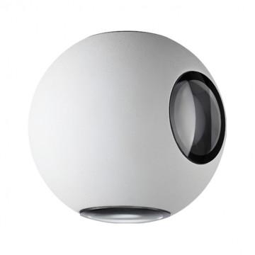 Настенный светодиодный светильник Novotech Street Calle 357832, IP54, LED 4W 3000K 315lm, белый, металл, стекло