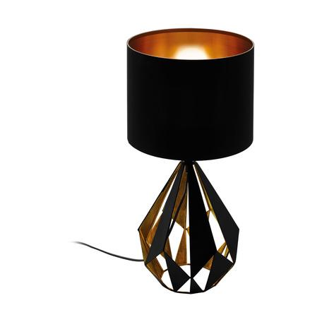Настольная лампа Eglo Carlton 5 43077, 1xE27x60W, черный, металл, текстиль