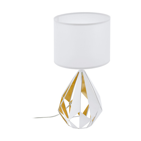 Настольная лампа Eglo Carlton 5 43078, 1xE27x60W, белый, металл, текстиль