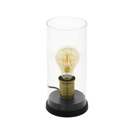 Настольная лампа Eglo Trend & Vintage Vintage Smyrton 43105, 1xE27x60W, черный, прозрачный, металл, стекло