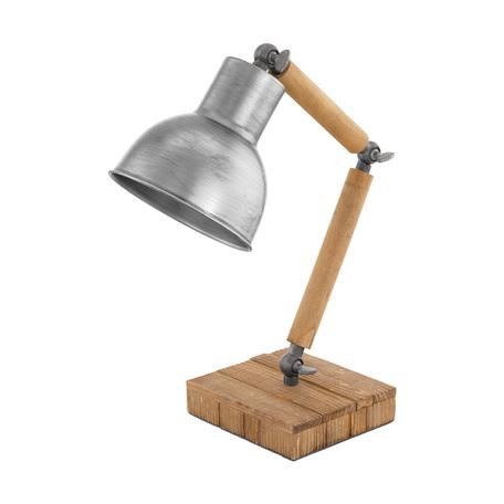 Настольная лампа Eglo Stringston 33006, 1xE27x40W, коричневый, сталь, дерево, металл