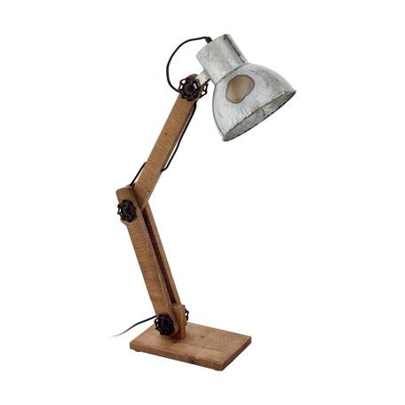 Настольная лампа Eglo Frizington 43068, 1xE27x40W, коричневый, сталь, дерево, металл