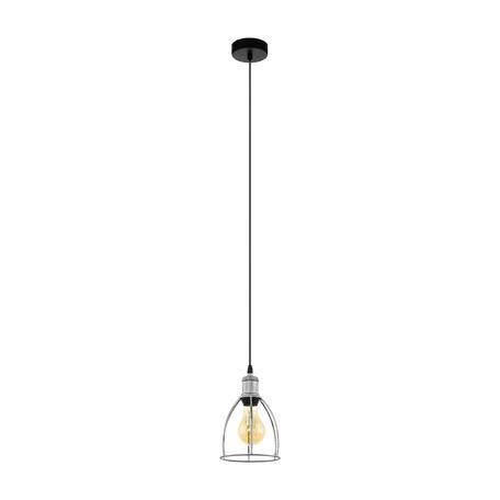 Подвесной светильник Eglo Trend & Vintage Vintage Wraxall 33021, 1xE27x60W, черный, серебро, металл