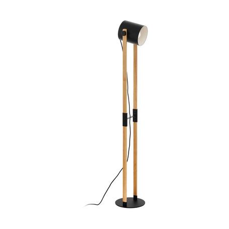 Торшер Eglo Trend & Vintage Loft Hornwood 43048, 1xE27x28W, черный, коричневый, металл, дерево
