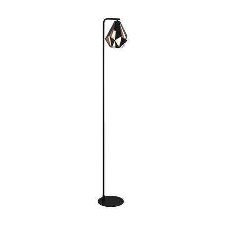 Торшер Eglo Carlton 4 43059, 1xE27x60W, черный, металл