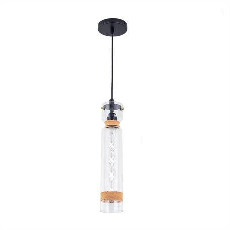 Подвесной светильник Citilux Эдисон CL450213, 1xE27x75W, венге, коричневый, прозрачный, металл, стекло