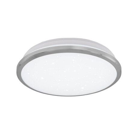 Потолочный светодиодный светильник Citilux Луна CL702161W*, IP54, LED 16W 3000K 1200lm, хром, металл с пластиком