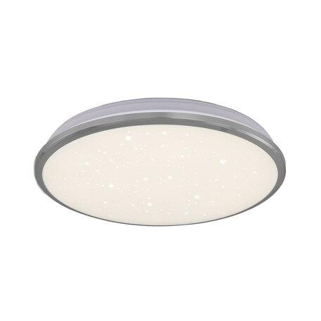 Потолочный светодиодный светильник Citilux Луна CL702221W*, IP54, LED 22W 3000K 1600lm, хром, металл с пластиком