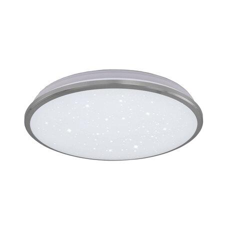 Потолочный светодиодный светильник Citilux Луна CL702301W*, IP54, LED 30W 3000K 2200lm, хром, металл с пластиком