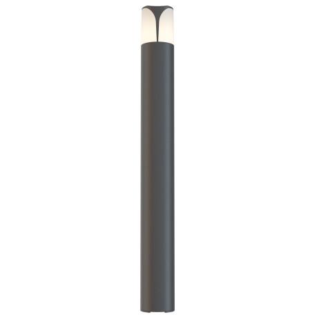 Садово-парковый светильник Maytoni Piccadilly O018FL-01B, IP44, 1xE27x23W, черный, белый, металл, пластик