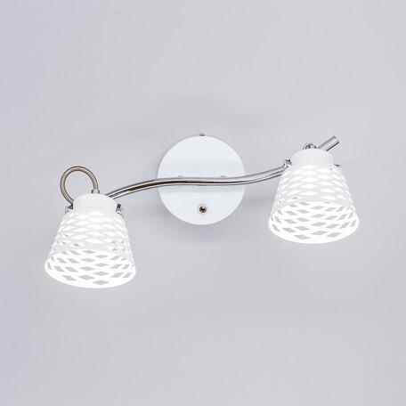 Настенный светодиодный светильник с регулировкой направления света Citilux Орегон CL508520, LED 10W 3000K 750lm, белый, хром, металл
