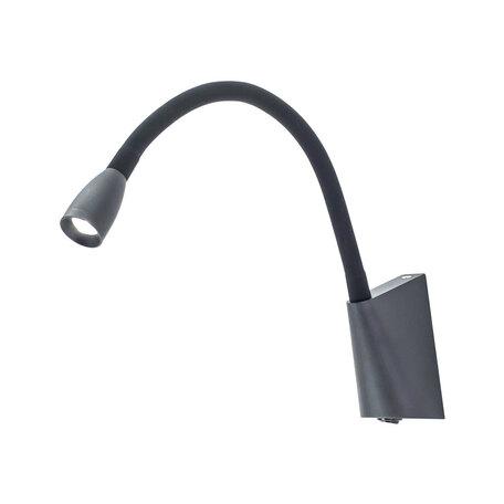 Настенный светодиодный светильник с регулировкой направления света Citilux Декарт CL704341, LED 3W 3000K 225lm, черный, металл