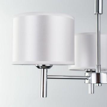 Подвесная люстра Citilux Аврора CL463130, 3xE27x75W, хром, белый, металл, текстиль - миниатюра 10