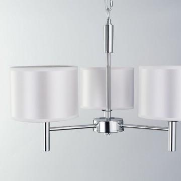 Подвесная люстра Citilux Аврора CL463130, 3xE27x75W, хром, белый, металл, текстиль - миниатюра 11