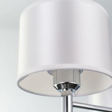 Подвесная люстра Citilux Аврора CL463130, 3xE27x75W, хром, белый, металл, текстиль - миниатюра 9
