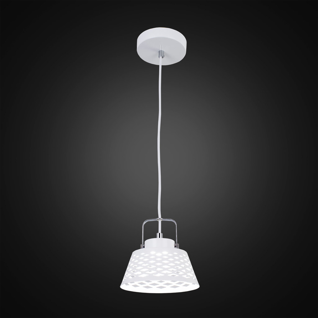 Подвесной светодиодный светильник с регулировкой направления света Citilux Орегон CL508110, LED 7W 3000K 525lm, белый, металл - фото 2