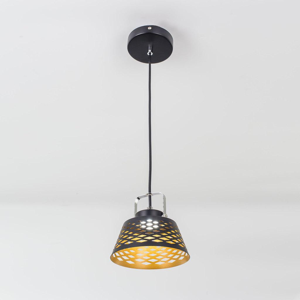 Подвесной светодиодный светильник с регулировкой направления света Citilux Орегон CL508112, LED 7W 3000K 525lm, черный, металл - фото 1
