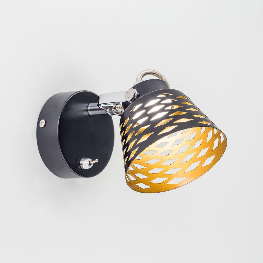 Настенный светодиодный светильник с регулировкой направления света Citilux Орегон CL508512, LED 5W 3000K 375lm, черный, металл - фото 1